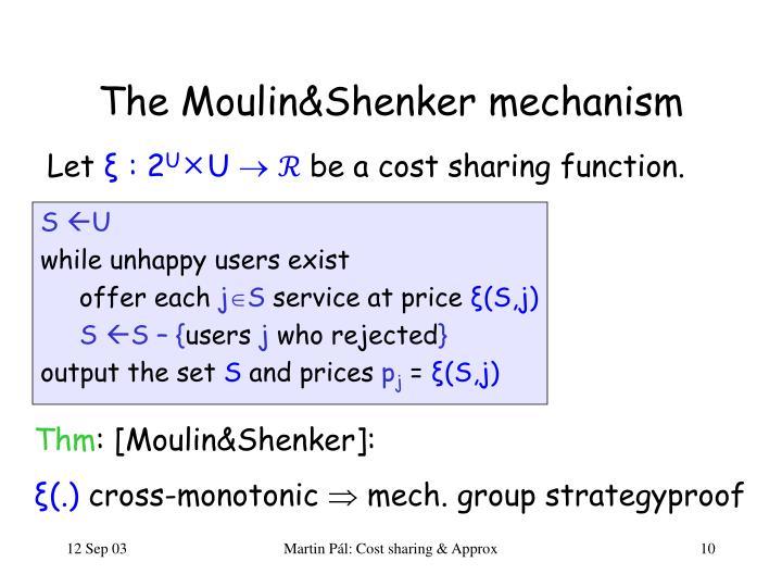 The Moulin&Shenker mechanism