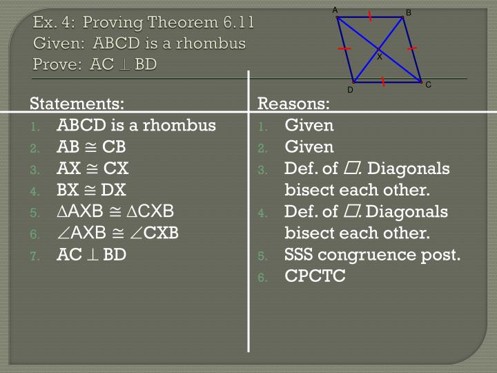Ex. 4:  Proving Theorem 6.11