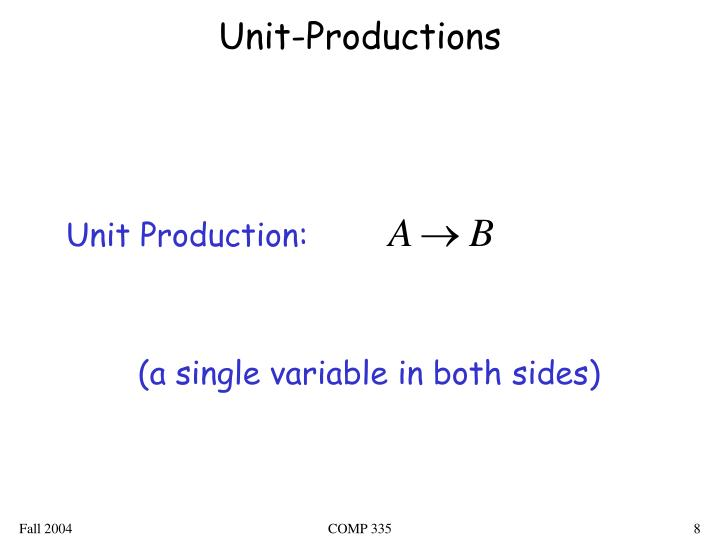 Unit-Productions