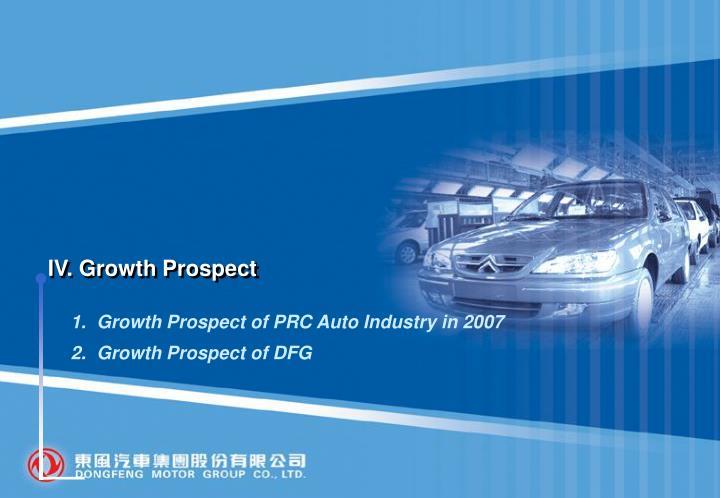 IV. Growth Prospect