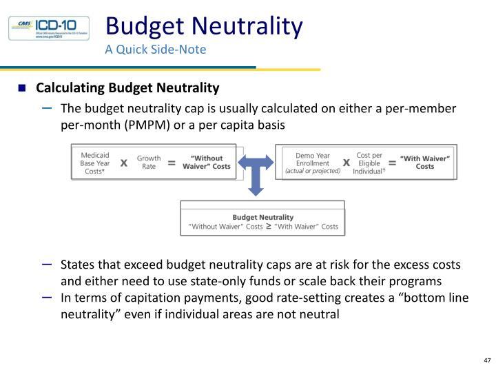 Budget Neutrality