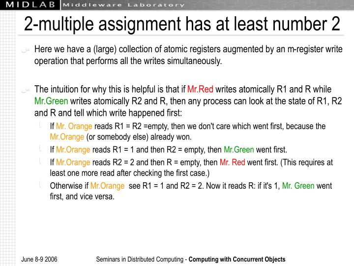 2-multiple assignment has at least number 2