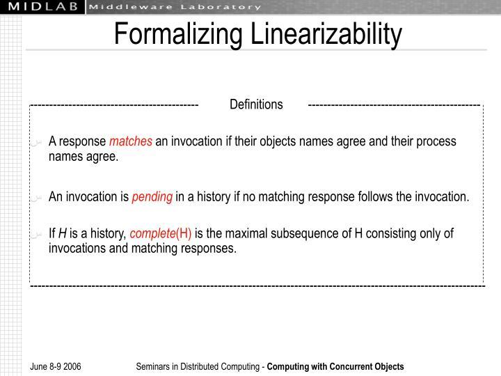 Formalizing Linearizability