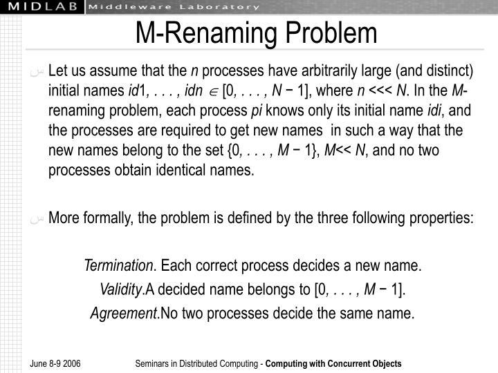 M-Renaming Problem