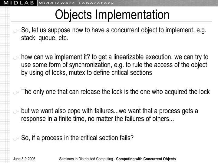 Objects Implementation