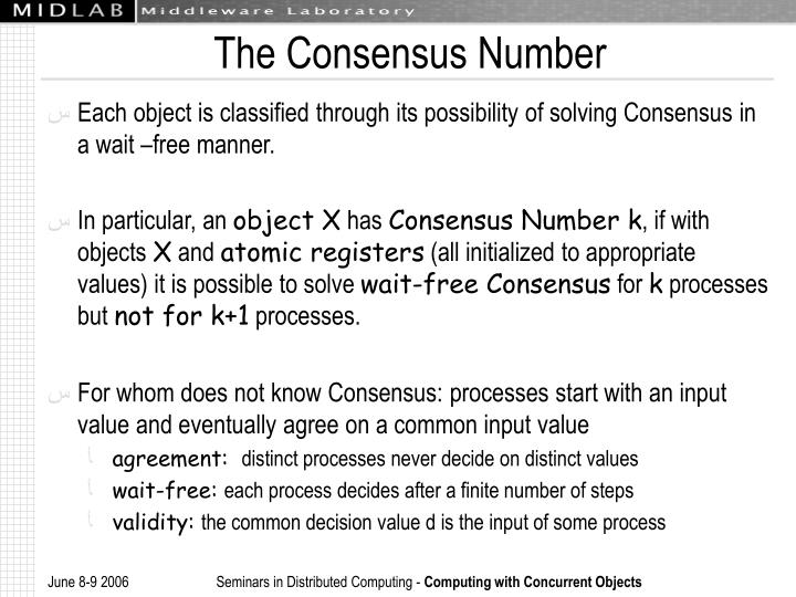 The Consensus Number