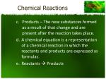 chemical reactions1