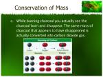conservation of mass1