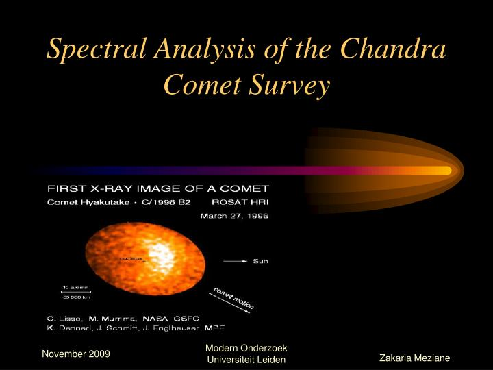 spectral analysis of the chandra comet survey n.