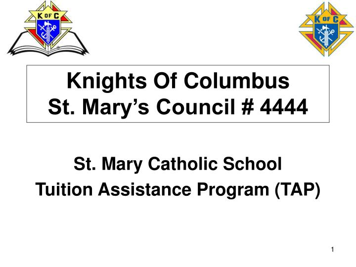 Knights of columbus st mary s council 4444