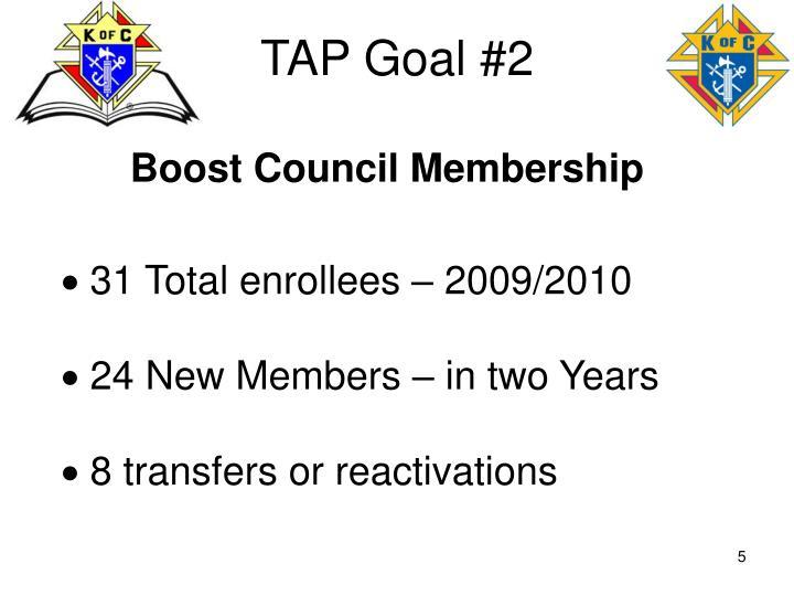 TAP Goal #2