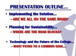 presentation outline2