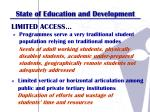 state of education and development1