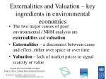 externalities and valuation key ingredients in environmental economics