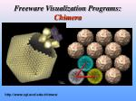 freeware visualization programs chimera