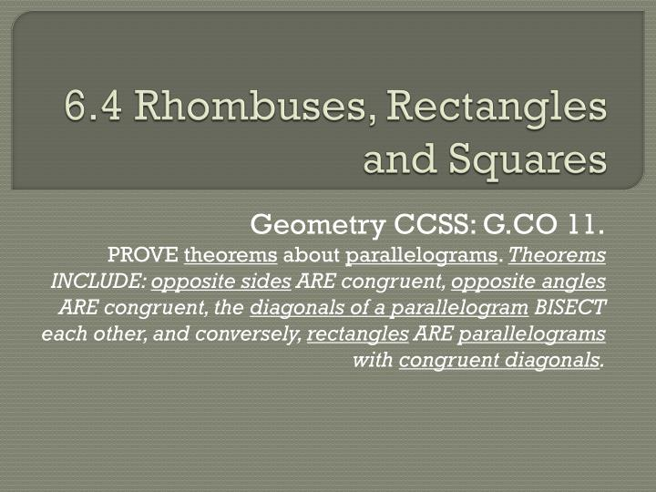 6 4 rhombuses rectangles and squares n.
