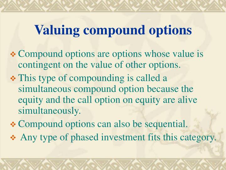 Valuing compound options
