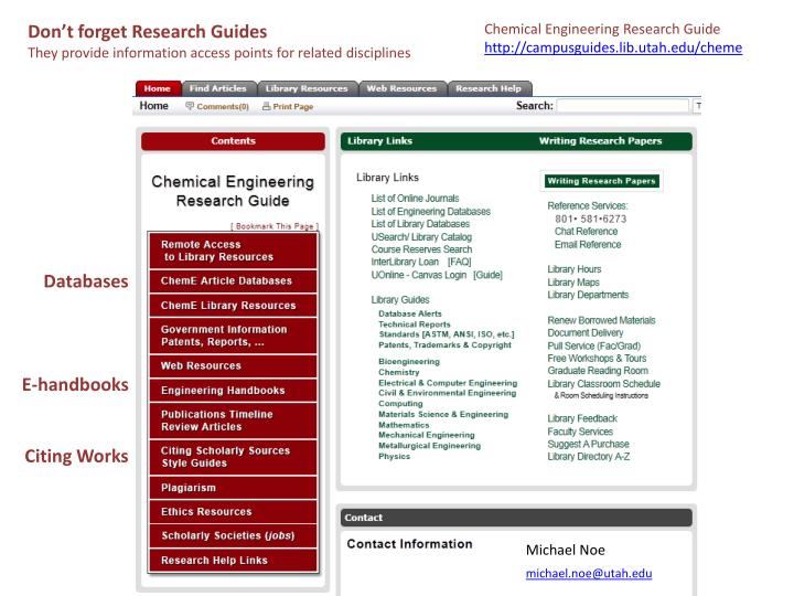 Don't forget Research Guides