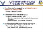 algorithmic difficulties a fundamental problem