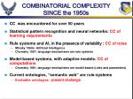 combinatorial complexity since the 1950s