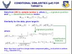 conditional similarities pdf for target k