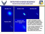 detection in image sequence ten rotation frames were used