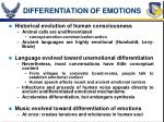 differentiation of emotions