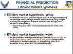 financial prediction efficient market hypothesis