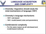 language acquisition and complexity