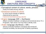 language emotions and concepts