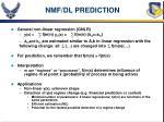 nmf dl prediction