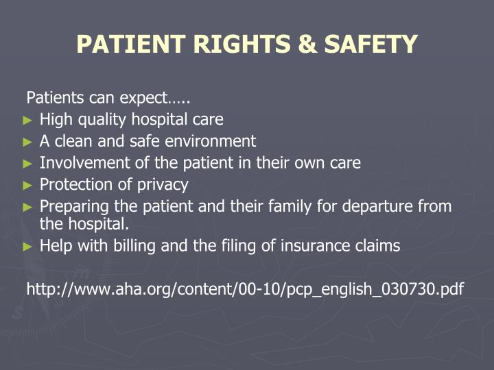 PATIENT RIGHTS & SAFETY