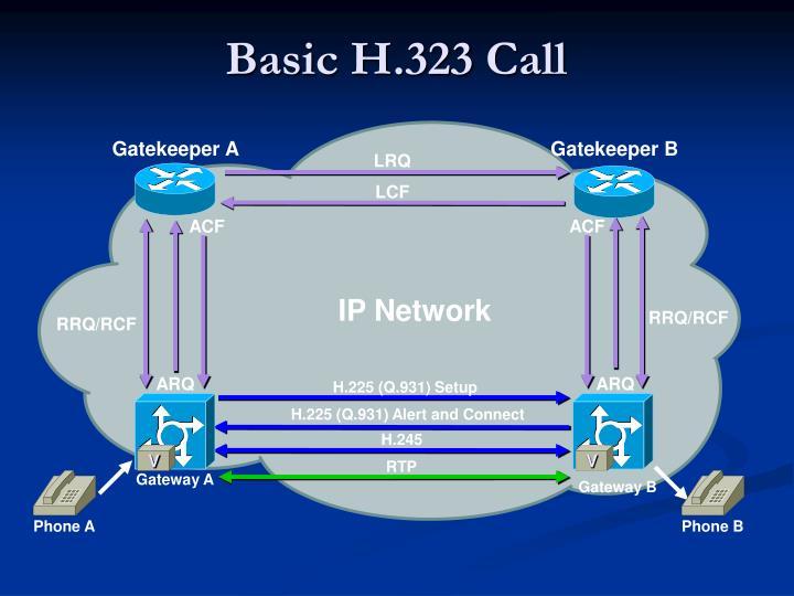 Basic h 323 call