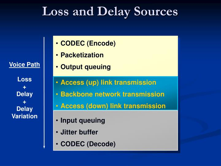 Loss and Delay Sources