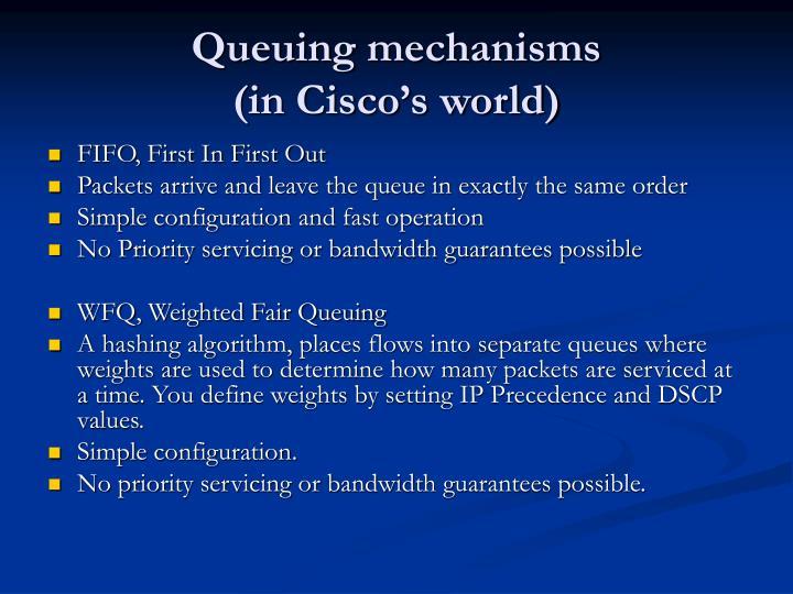 Queuing mechanisms