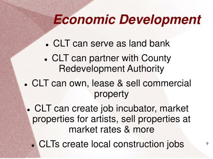 CLT can serve as land bank