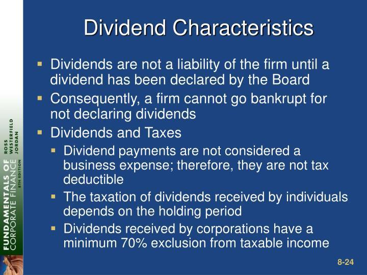 Dividend Characteristics