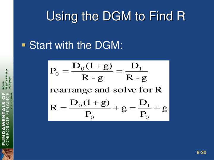 Using the DGM to Find R