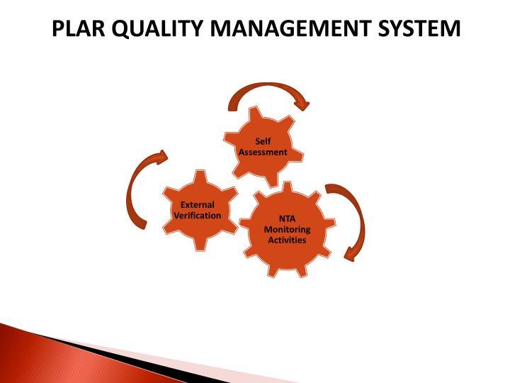 PLAR QUALITY MANAGEMENT SYSTEM