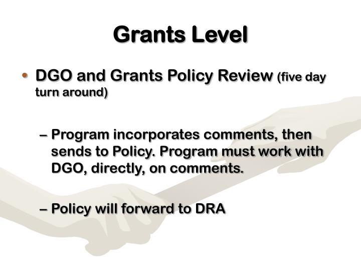 Grants Level