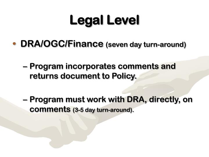 Legal Level