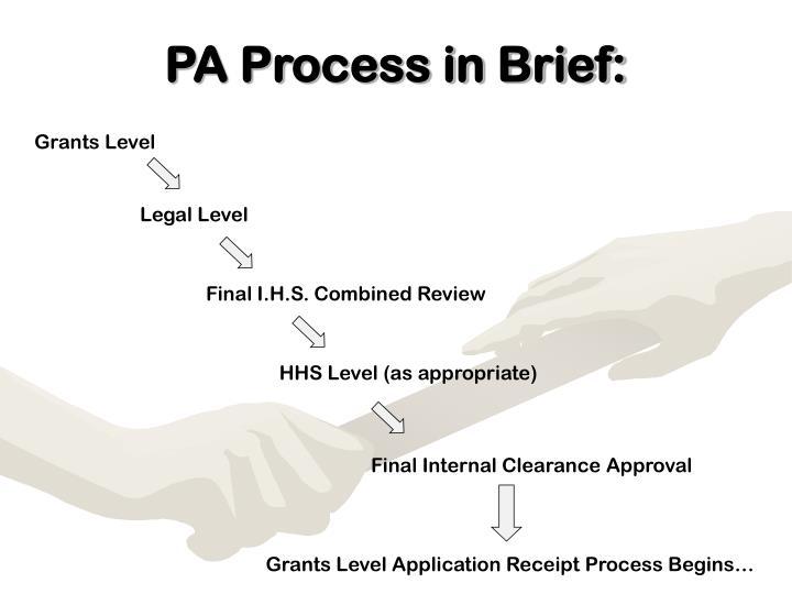 Pa process in brief