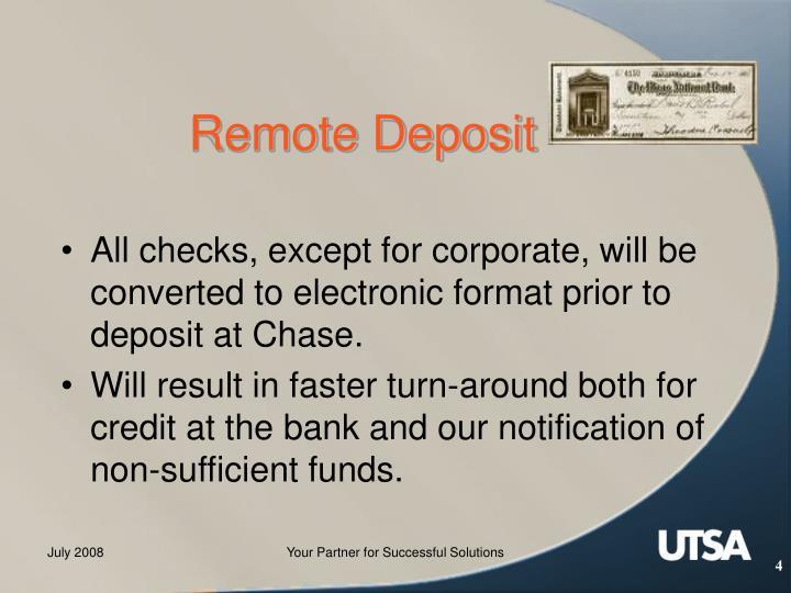 Remote Deposit