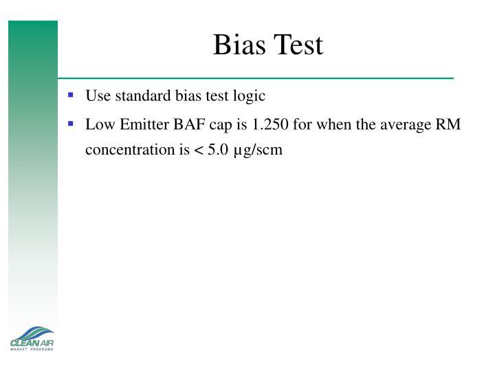 Bias Test