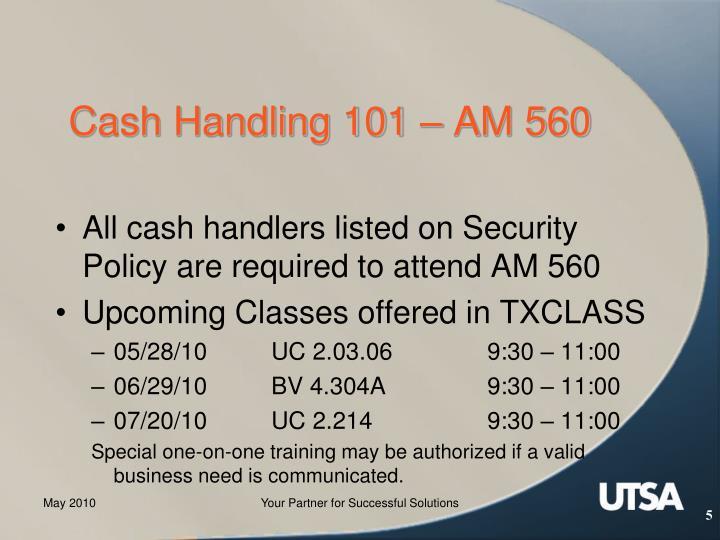 Cash Handling 101 – AM 560