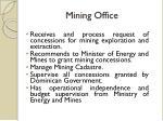 mining office