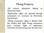 mining p roperty