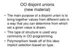 oo disjoint unions new material