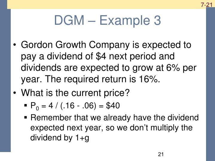 DGM – Example 3