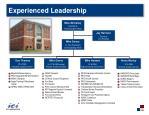 experienced leadership